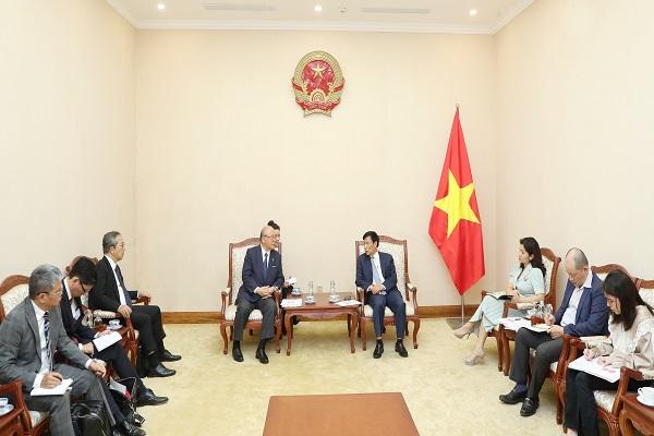 Bộ trưởng Nguyễn Ngọc Thiện tiếp Cố vấn đặc biệt của Liên minh hữu nghị Nhật - Việt ông Takebe Tsutomu