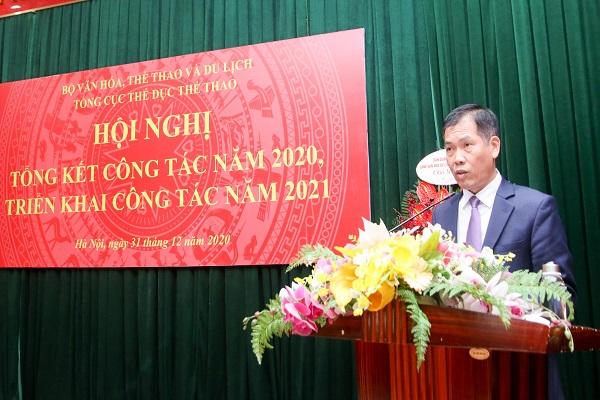 PTC trưởng phụ trách Trần Đức Phấn phát biểu tại Hội nghị