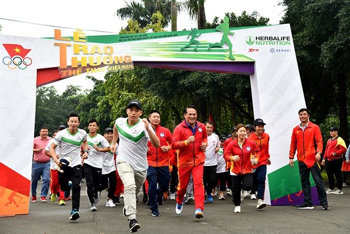 """Đại biểu dự Chương trình tham gia hoạt động hưởng ứng """"Ngày chạy Olympic vì sức khỏe toàn dân"""" năm 2021"""